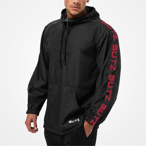 Men's Sports Zipper Windbreaker Common