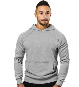 Men's cotton solid color sports long-sleeved sweater