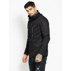 Men's High-Necked Zippered Jacket
