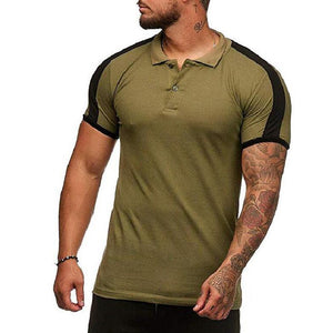 Men's Lapel Short Sleeve T-Shirt