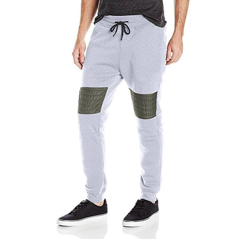 Men's casual stitching sweatpants casual pants