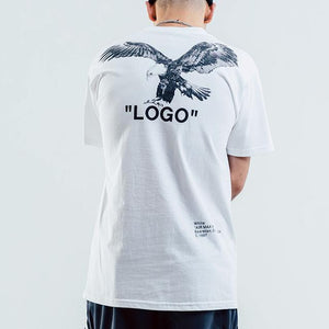 Eagle Print Men's Cotton Short Sleeve T-Shirt