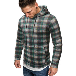 Men's Casual Plaid Print Sweatshirt