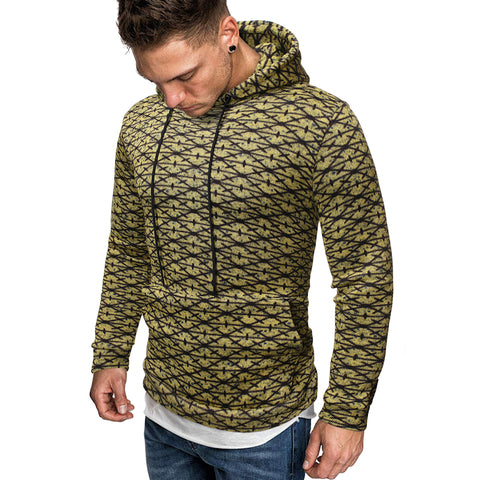 Men's Ethnic Style Printed Loose Sweatshirt
