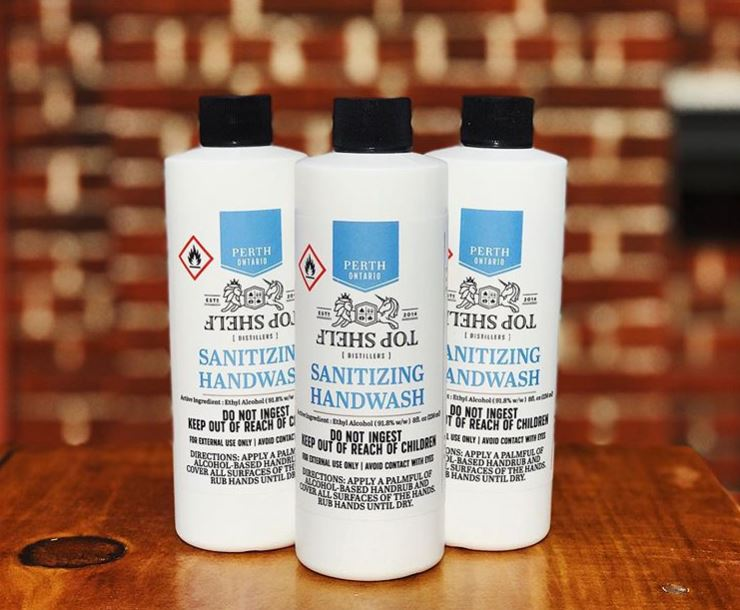 Makerspace sister company & tenant, Top Shelf Distillers, trades moonshine for hand sanitizer