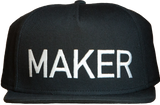 MAKER snapback hat (black)