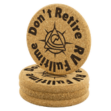 RV Fulltime Cork Drink Coasters