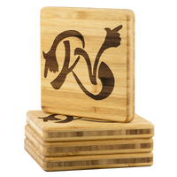RV Bamboo Drink Coasters