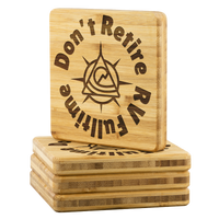 RV Livin'  Bamboo Drink Coasters Drinkware Coll.