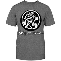 Keep On RVin' Rough Drawn on Grey Womens' Short Sleeve Tees
