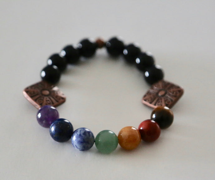 Chakra Bracelet with Copper