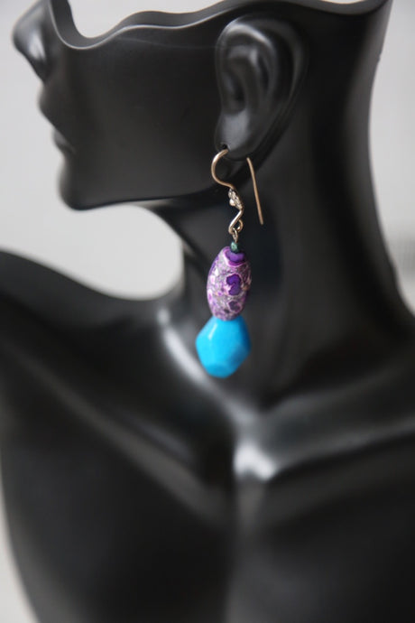 Blue and Purple earrings