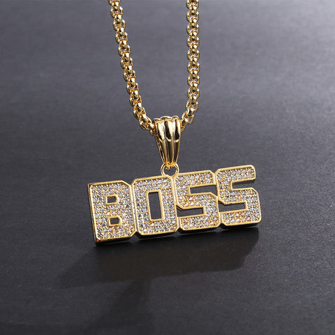 Fashion personality letter BOSS necklace