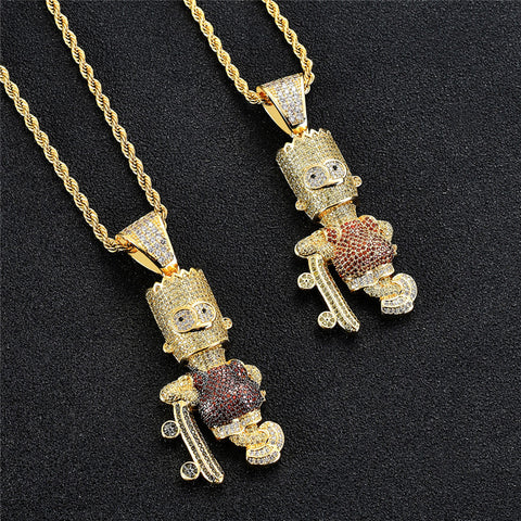 DRIPPED BART SIMPSON PENDANT + FREE ROPE CHAIN