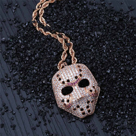 Personality retro mask pendant necklace