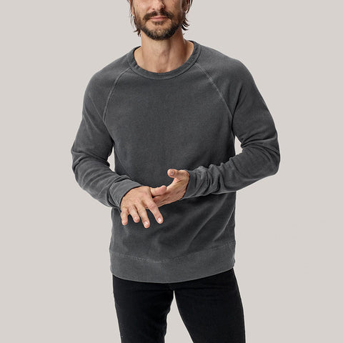 Simple Pure Color Long Sleeve Round Neck T-Shirt