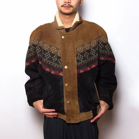 Men's Exotic Single-breasted Printed Color Long Sleeve Jacket