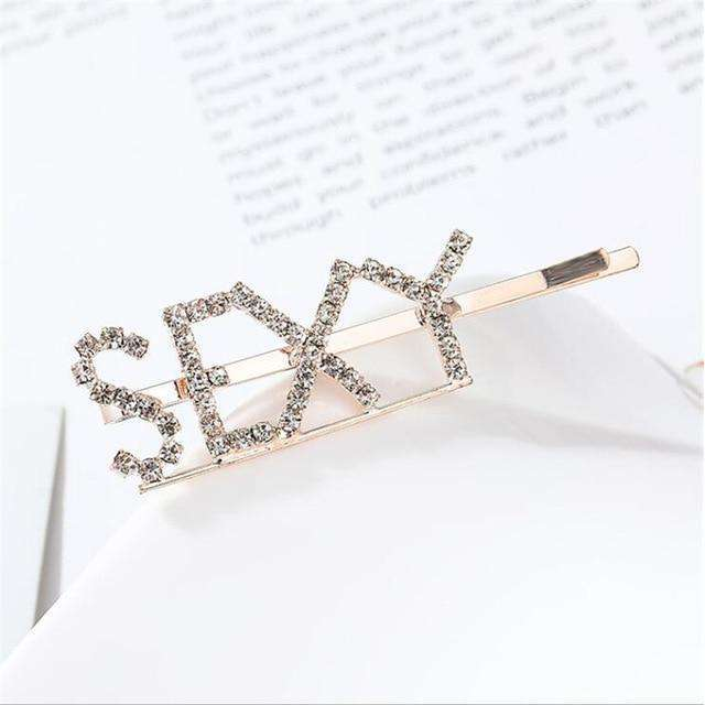 Musho Station:Alloy Letter Metal Hairpins Women Girls Hair Clips Pin Barrette Hair clip Accessories For Women,,Musho Station,Musho Station