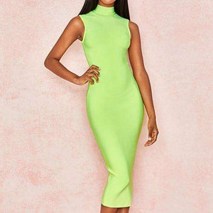 Musho Station:Bandage Dress Sleeveless Green Tank Bodycon Club Dresses Celebrity Evening Party Dress,,Musho Station,Musho Station