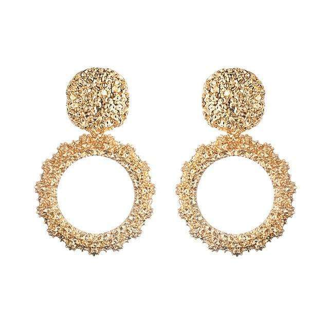 Musho Station:Big Vintage Earrings for women with color,,Musho Station,Musho Station