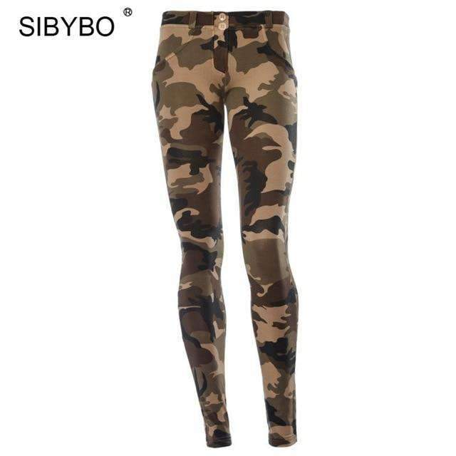 Musho Station:Camouflage Print Bodycon Low Waist Skinny Legging,,Musho Station,Musho Station