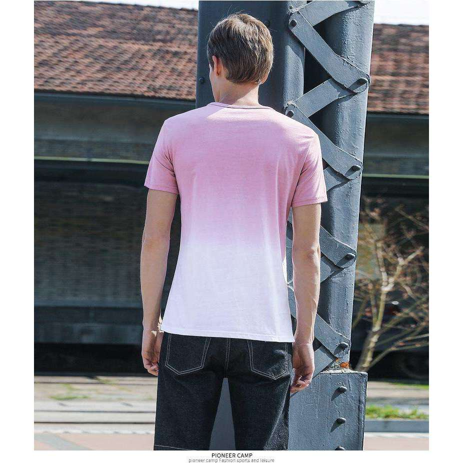 Musho Station:Camp fashion Gradient T shirt men,