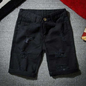 Musho Station:Denim Shorts With Holes Short Cotton stretches Casual Denim Shorts,,Musho Station,Musho Station