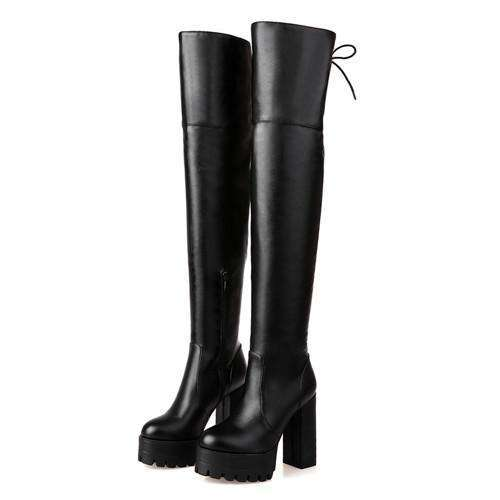 Musho Station:Fashion Black Winter Boots for Women,,Musho Station,Musho Station