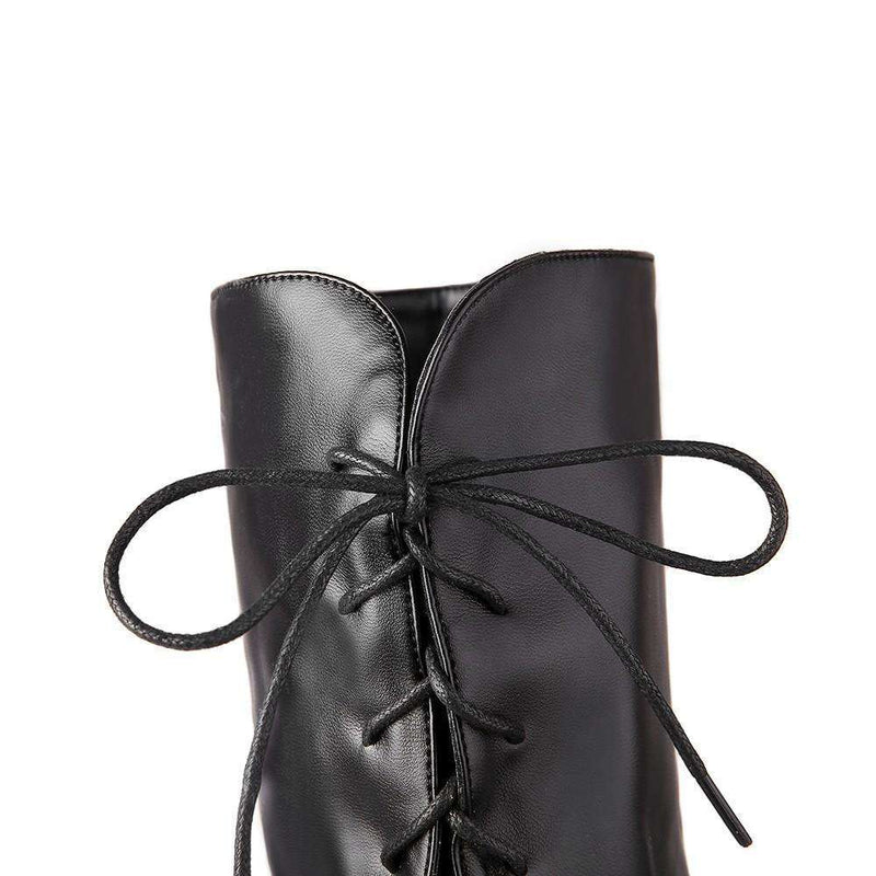 Musho Station:Fashion Black Winter Boots for Women,