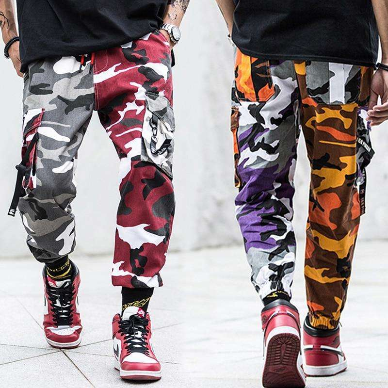 Musho Station:Fashion Streetwear Camouflage Jogger Pants,