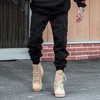 Musho Station:HaremHip Hop Casual Male Tactical Joggers Trousers Fashion Streetwear Side Pockets Cargo Pants,