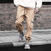 Musho Station:HaremHip Hop Casual Male Tactical Joggers Trousers Fashion Streetwear Side Pockets Cargo Pants,,Musho Station,Musho Station
