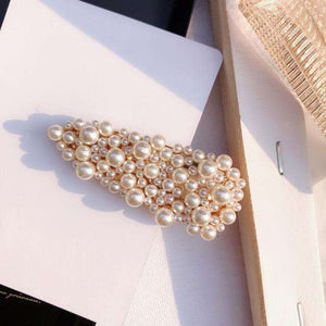 Musho Station:Imitation Pearl Hairpin Fashion Hollow Heart Hair Clips Geometric Hair-grip for Women Hair Accessories,,Musho Station,Musho Station