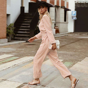Musho Station:Light Pink Jumpsuits Romper,