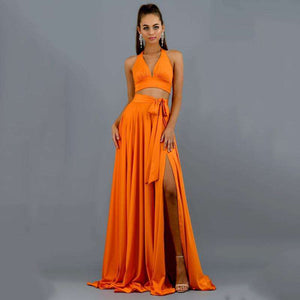 Musho Station:Long Bodycon Elegant Halter Maxi Dress,,Musho Station,Musho Station