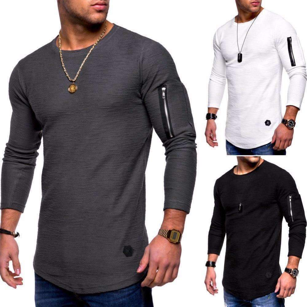 Musho Station:Long Sleeve Street Slim Men's Top,