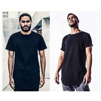 Musho Station:Men Fashion Plain Short Sleeve O neck Oversize Pullover Solid Hip Hop Undershirt Male Street Style,
