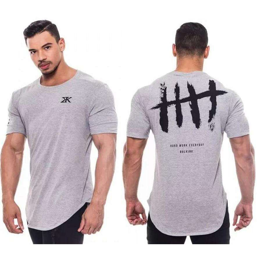 Musho Station:Men T-Shirt Brand Fitness Bodybuilding Vest Cotton Singlets Brand Muscle Shirt,