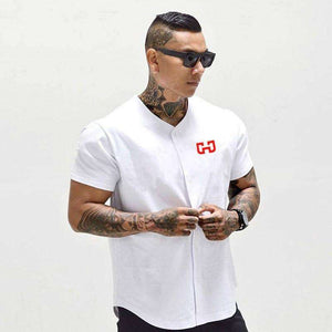 Musho Station:Men's Baseball Jersey Cropped T-shirts Sportswear,