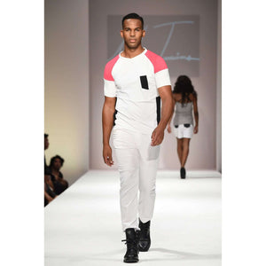 Musho Station:Men's color Blocking T-Shirt,Men - Apparel - Shirts - T-Shirts,Uwi Twins,Musho Station