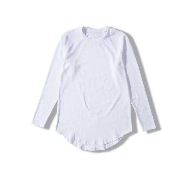 Musho Station:Men's pure color Europe street style T-shirt long Over sized loose Cotton t-shirt,,Musho Station,Musho Station
