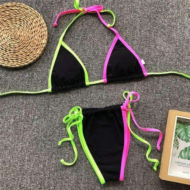 Musho Station:Micro triangle neon swimwear,,Musho Station,Musho Station