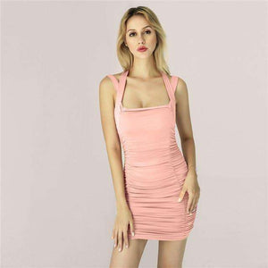Musho Station:Neon Wrapped Mini Body-con dress,,Musho Station,Musho Station