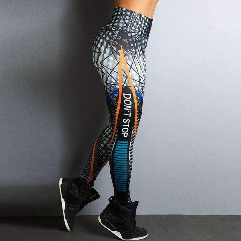 Musho Station:Printing Style Leggings Put Hip Fold Elastic High Waist Legging,