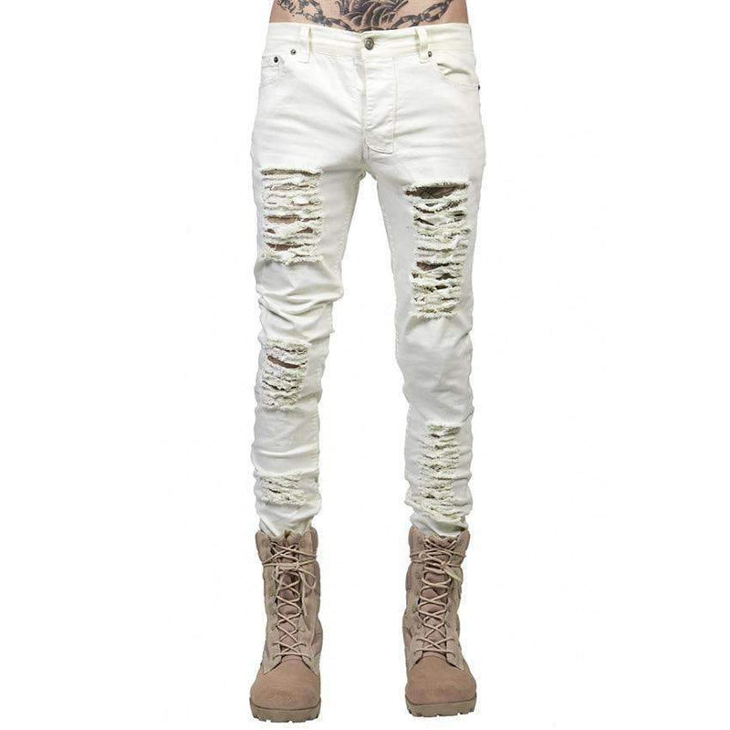 Musho Station:Ripped Skinny Distressed Slim Jeans,