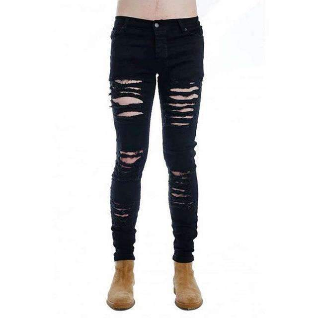 Musho Station:Ripped Skinny Distressed Slim Jeans,,Musho Station,Musho Station