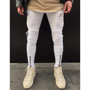 Musho Station:Ripped Slim Fit  Jeans,