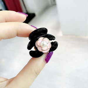 Musho Station:Simple Mini Small Hair Pins Floral Camellia Imitation Pearl Hair Clips for Women,,Musho Station,Musho Station