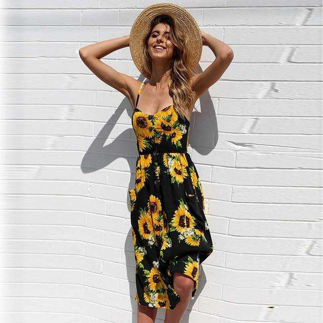 Musho Station:Sleeveless v neck spaghetti straps Vintage Boho Maxi Floral  Chiffon Dress,,Musho Station,Musho Station