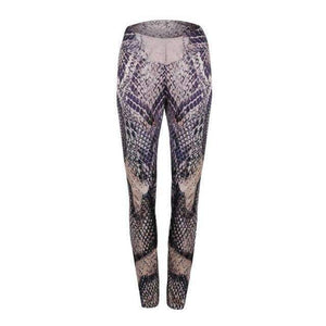 Musho Station:Stretch Elastic Snake Lin Mid Waist Fitness Legging,,Musho Station,Musho Station